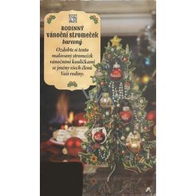 Albi Rodinný vianočný stromček s farebnou potlačou