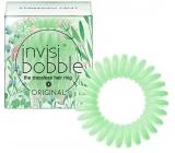 Invisibobble Original Secret Garden Forbidden Fruit Gumička do vlasů zelená spirálová 3 kusy