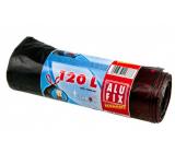 Alufix Economy Vrecia na odpad zaťahovacie čierne, 21 μ 120 litrov, 70 x 100 cm, 7 kusov