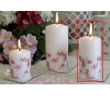 Lima Motív Ruže s plameniakmi sviečka biela valec 50 x 100 mm 1 kus