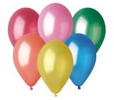 Balóniky Metalické mix farieb 26 cm 10 kusov