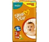 Pampers Sleep & Play 3 Midi 4 - 9 kg plenkové kalhotky 58 kusů