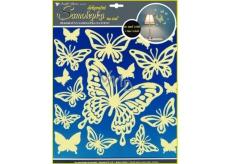 Room Decor Samolepky na stenu motýle svietiace v tme 31 x 29 cm