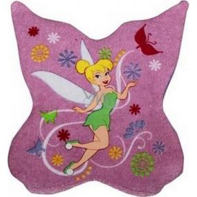 Disney Fairies umývacie špongia pre deti 21 cm x 20,3 cm x 1 cm 1 kus