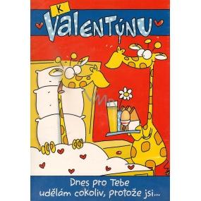 Ditipo Hracie želanie K Valentínovi Dnes pre teba urobím čokoľvek melódie 224 x 157 mm