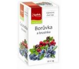 Apotheke Natur Čučoriedka a brusnica ovocný čaj 20 x 2 g