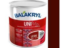 Balakryl Uni Lesk 0245 Tmavo hnedý univerzálna farba na kov a drevo 700 g