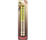 Nekupto Hobby drevené ceruzky Vášnivý cyklista 2 kusy