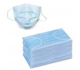 Rúška 3 vrstvová Premium netkaná jednorazová lekárska ochranná, nízky dýchací odpor 50 kusov