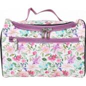 Albi Original Cestovné kozmetický kufrík Hortenzie 24 cm x 16 cm x 13 cm