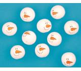 Hlavičky z buničiny snehuliaci 3 cm 10 kusov