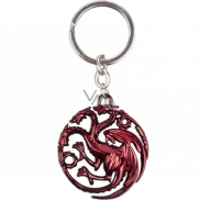 Epee Merch Hra o Tróny Game of Thrones - Targaryen Kľúčenka kovová 4,5 x 6 cm