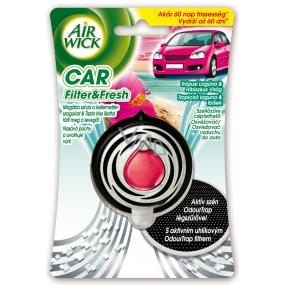 Air Wick Car Filter & Fresh Tropická laguna a ibišek osvěžovač vzduchu 3 ml