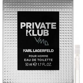 Karl Lagerfeld Private Klub for Men toaletní voda 2 ml s rozprašovačem, Vialka