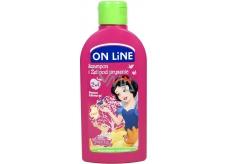 On line Kids Snehulienka Hruška 2v1 sprchový gél a šampón na vlasy pre deti 250 ml