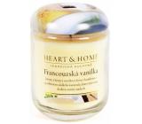 Heart & Home Francúzska vanilka Sójová sviečka veľká horí až 70 hodín 310 g