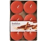 Bolsius Aromatic Maxi Sugar & Spice - Cukr a koření vonné čajové svíčky 6 kusů, doba hoření 8 hodin