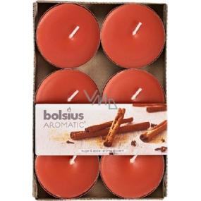 Bolsius Aromatic Maxi Sugar & Spice - Cukor a korenie vonné čajové sviečky 6 kusov, doba horenia 8 hodín