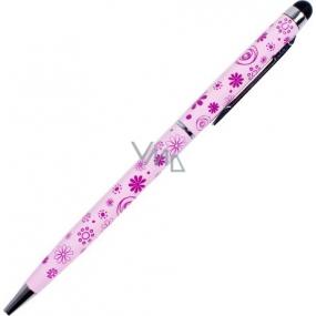 Albi Original Prepisovačka so stylusom Kvety svetlo ružová R / Č