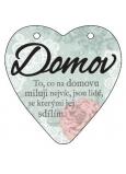 Albi Závesná plaketka srdce Domov 9 cm × 10 cm