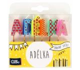 Albi Tortové sviečky meno - Adelka, 2,5 cm