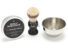 Percy Nobleman Krém na holenie 100 g + štetka na holenie + miska na holenie kozmetická sada na holenie pre mužov