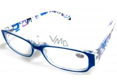 Berkeley Čítacie dioptrické okuliare +1,5 plast svetlo modré stranice s obdĺžniky 1 kus MC2084