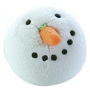 Bomb Cosmetics Biely snehuliak - Chilly Willy Šumivý balistik do kúpeľa 160 g