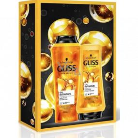 Gliss Kur Oil Nutritive šampón na vlasy 250 ml + balzam na vlasy 200 ml, kozmetická sada