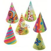 Klobúčiky karnevalové rôzne motívy 6 kusov v balení