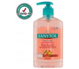 SANYTOL Ružový grapefruit & Svieži citrón dezinfekčné mydlo na ruky do kuchyne 250 ml s dávkovačom