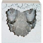 Albi Svadobné set šampusky de Luxe pre Nevestu a Ženícha 2 x 160ml
