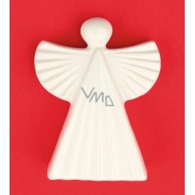 Anjel keramický figúrka, vrúbkovaný 9 cm