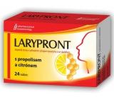 Favea Larypront s propolisom a citrónom tablety rozpustné v ústach k upokojeniu krku 24 tabliet