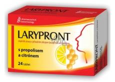 Favea Larypront s propolisem a citronem tablety rozpustné v ústech ke zklidnění krku 24 tablet