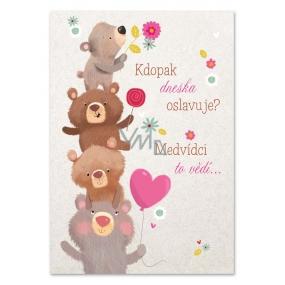 Ditipo Hracie prianie k narodeninám Pozri, kto dnes oslavuje? Medvieďatá Jaroslav Samson Lenk 224 x 157 mm