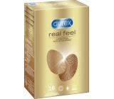 Durex Real Feel nelatexový kondóm pre prirodzený pocit koža na kožu, nominálna šírka: 56 mm 16 kusov