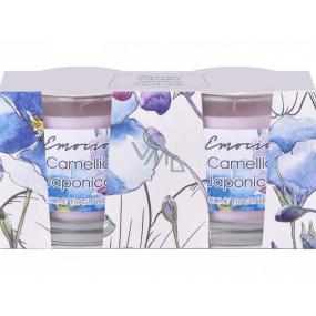 Emóciám Camellia japonica - Kamélie vonná sviečka sklo 50 x 63 mm 2 kusy v krabičke