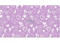 Apli Darčekový baliaci papier 70 x 200 cm Nordik Fun Pastel fialový - srdiečka