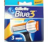 Gillette Blue 3 Brito náhradné hlavice 3 kusy