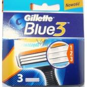 Gillette Blue 3 britov náhradné hlavice pre mužov 3 kusy
