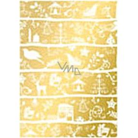 Ditipo Darčekový baliaci papier 70 x 500 cm Vianočné zlatý vianočné motívy 2033913