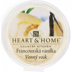 Heart & Home Francúzska vanilka Sójový prírodný voňavý vosk 27 g
