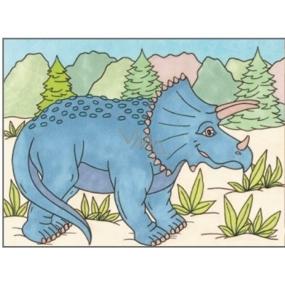 Maľovanie vodou dinosaury č.1 28 x 21 cm