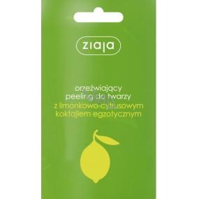 Ziaja Citrusový kokteil peeling na tvár sáčok 7 ml