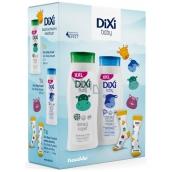 Dixi Baby 2v1 kúpeľ 400 ml + telové mlieko 400 ml + ponožky pre deti, kozmetická sada