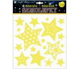 Samolepky svietiace v tme hviezdy 25 x 25 cm