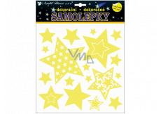 Room Decor Samolepky svietiace v tme hviezdy 25 x 25 cm