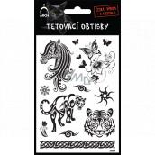Arch Tetovacie obtlačky Čierne Hlava koňa 9,5 x 14 cm