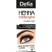 Delia Henna farba na obočie a mihalnice Čierna 2 g